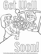 Coloring Pages Cards Soon Well Printable Better Feel Sheets Card Colouring Print Boys Daddy Deck Thank Please Template Enjoy Getcolorings sketch template