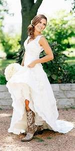 Simple country style wedding dresses with boots trends for Country dresses for weddings