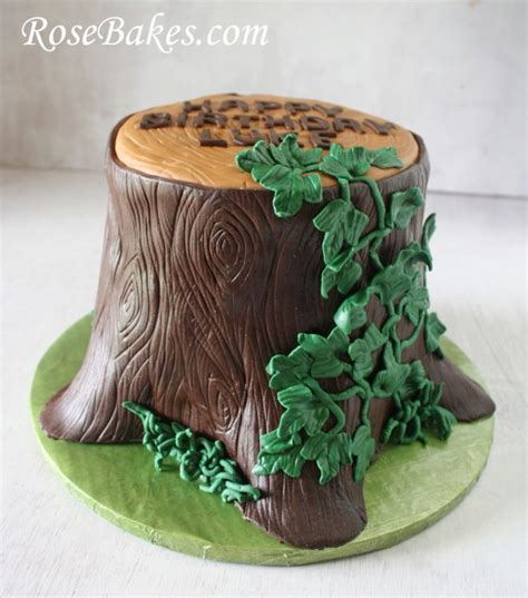tree cake tree stump cake