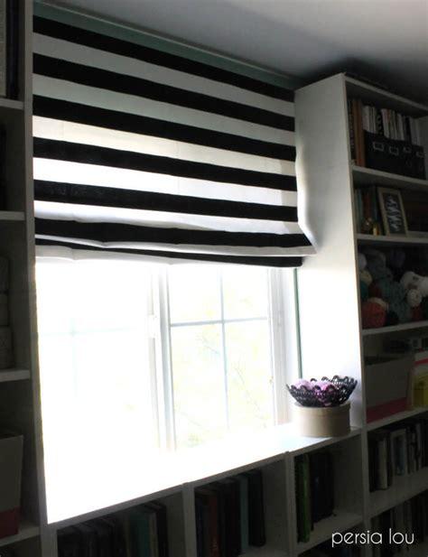 diy mini blinds  roman shade persia lou