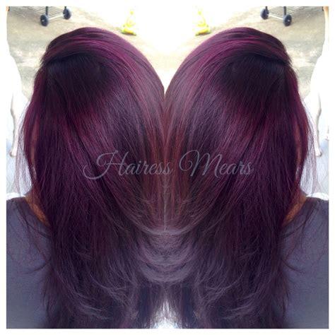 sangria hair color black raspberry sangria lightened to level 9
