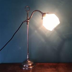 Lampe Art Deco : lampe de bureau art d co articul e en laiton argent millezime lampe vintage ~ Teatrodelosmanantiales.com Idées de Décoration