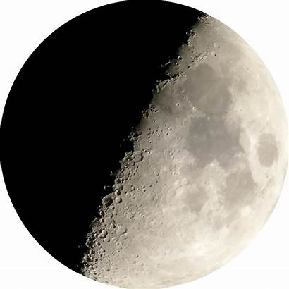 Moon Half Clipart Transparent Night Crescent Background
