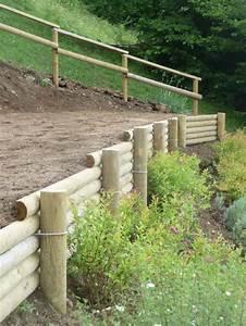 Rondin De Bois Pour Jardin : paysagiste vall e verte soutenement rondins bois ~ Edinachiropracticcenter.com Idées de Décoration