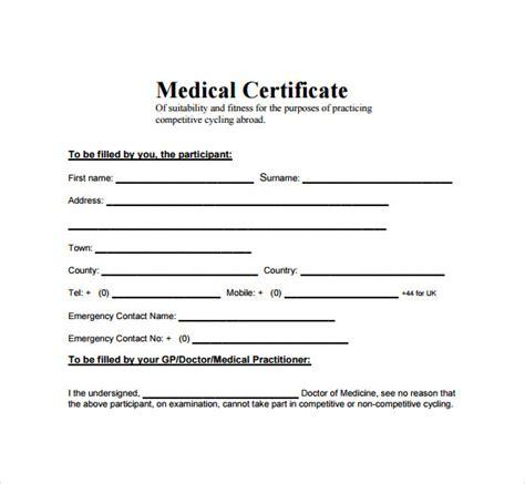 medical certificate    sample templates