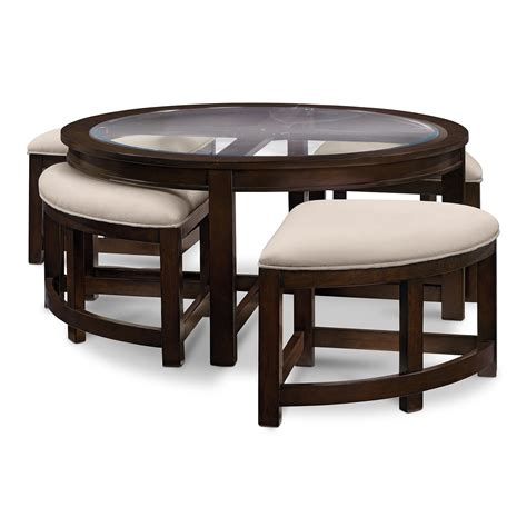 coffee and cocktail tables four corners cocktail table w 4 benches merlot value
