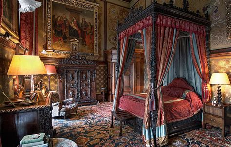 In Bedroom by Castle Bedrooms Eastnor Castle Herefordshire