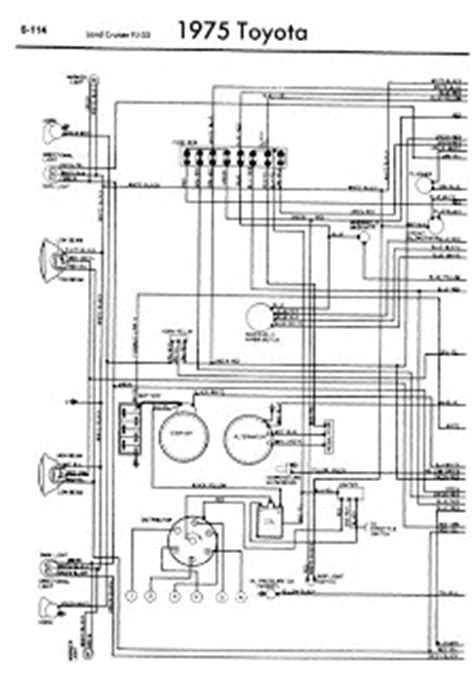 toyota land cruiser fj55 1975 wiring diagrams