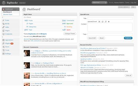 Bigsmoke » Wordpress Admin Menu Layout Problem