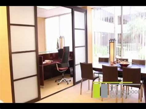 sliding door company room divider installation youtube
