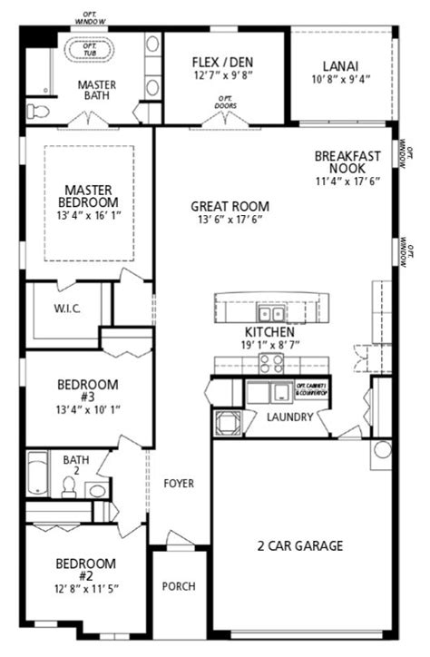 Maronda Homes Floor Plans Florida by New Home Floorplan Orlando Fl Drexel Maronda Homes