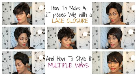 How To Make A 27 Pcs Pixie Wig With A Lace Closure