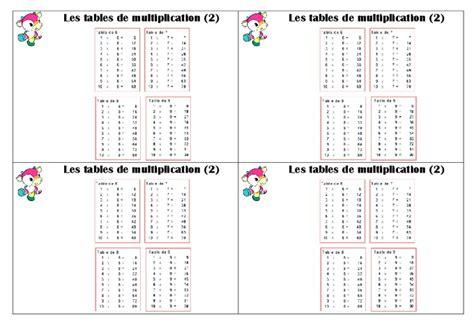 tables de multiplication ce1 le 231 on pass education
