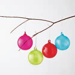 colored glass sphere ornaments modern christmas ornaments by west elm