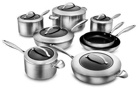 scanpan ctx cookware set  stratanium nonstick  piece stainless cutlery