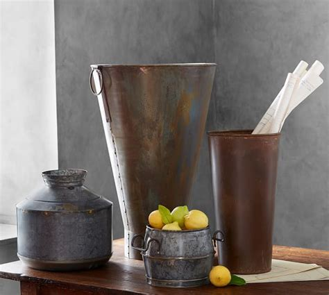 galvanized vase pottery barn