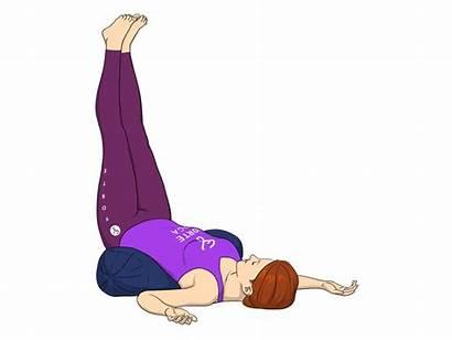 Pose Yoga Legs Wall Feet Poses Viparita