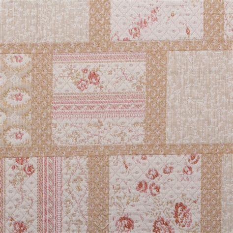 Floral Patchwork Tapestry Quilted Furnishing Curtain