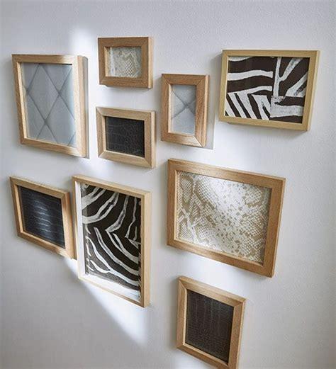 effet de cadres un mur de cadres original dans le couloir