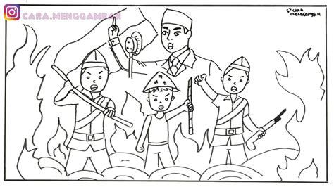 gambar untuk mewarnai tema kemerdekaan