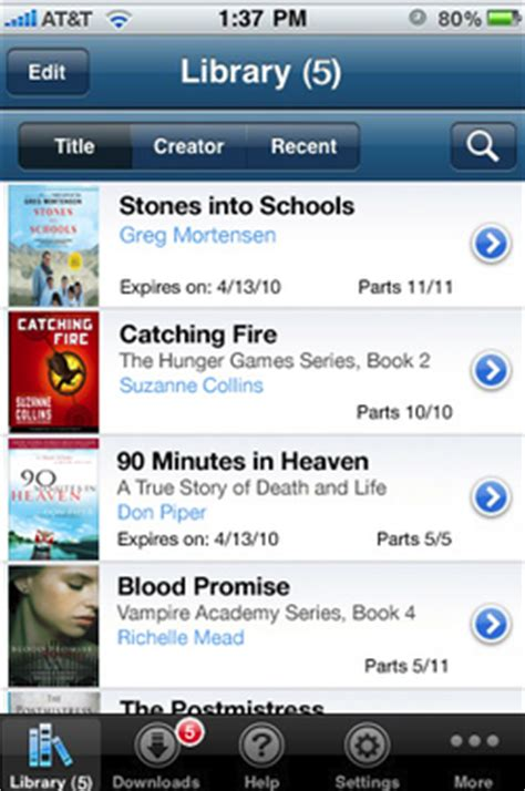 how to access audiobooks on iphone techbits guest post overdrive app for the iphone and itouch
