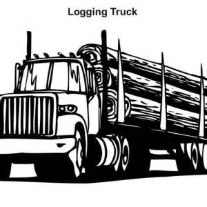 HD wallpapers logging truck coloring page