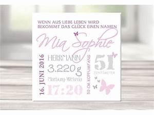 Bild Mit Geburtsdaten : wandbild mit geburtsdaten foto leinwand personalisiert ~ Frokenaadalensverden.com Haus und Dekorationen