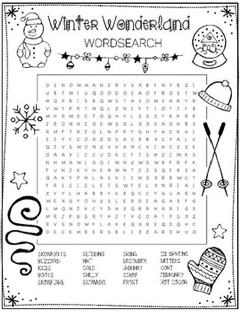 winter word search by art is basic teachers pay teachers