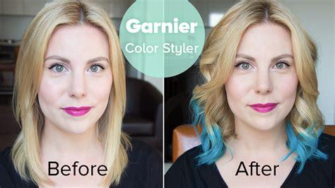 video garnier color styler  blue burst megan joy