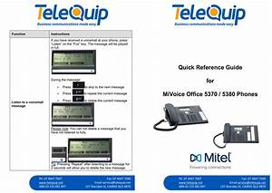Mitel 5370  5380 Phone Quick Reference Guide