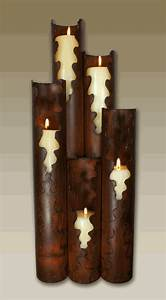 torn edge metal candle holder 5 candles With kitchen cabinets lowes with metal wall art candle holder