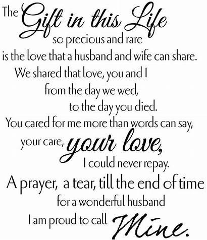 Funeral Poems Tribute Proud Husband Quotes Miss