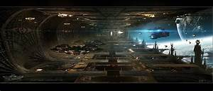 ArtStation - Titus Abrasax Docking Bay concept from ...