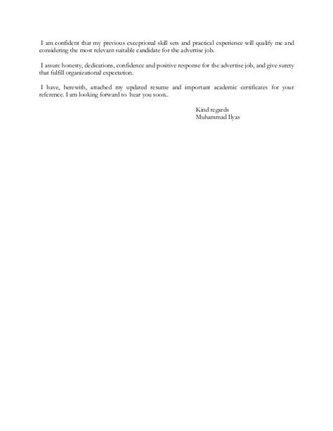 I Am Attaching My Resume For Your Reference by Ilyas Resume Vd Cover Letter