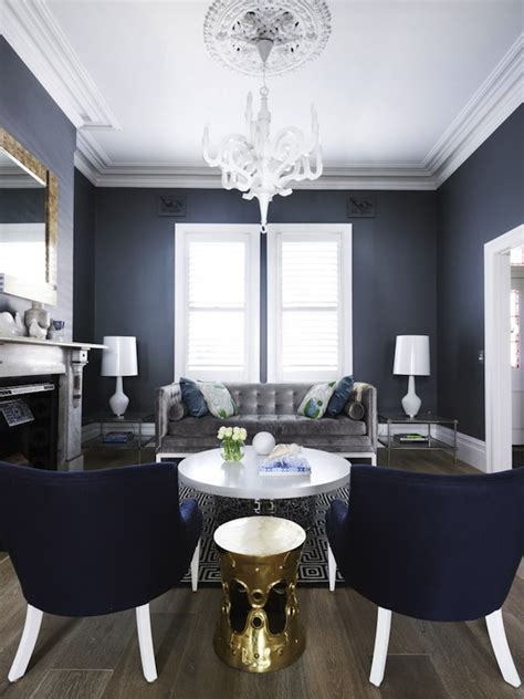 Blue Gray Paint In Living Room by Blue And Gray Living Room Contemporary Living Room