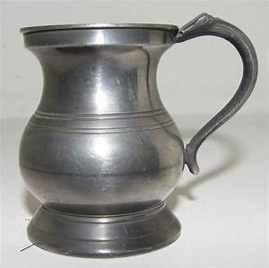Lovely Bulbous British Pewter Measure Ca 1880 From