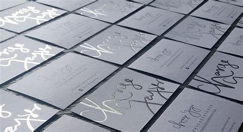 foil printed business cards  zealand fancy high