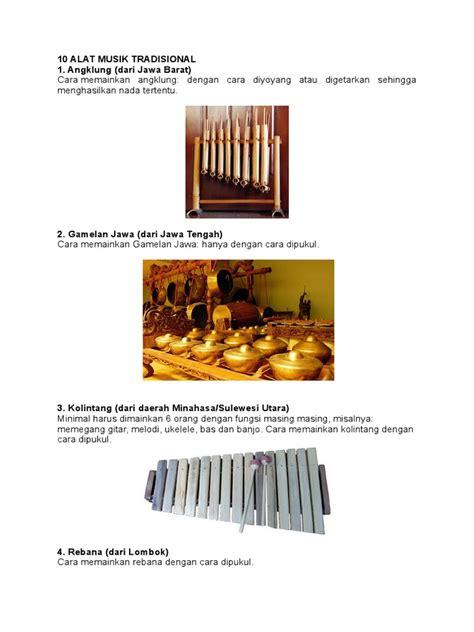 Tamborin menghasilkan suara gemerincing yang dapat dipadukan dengan suara tabuhan. Alat Musik Tradisional Yang Dimainkan Dengan Cara Dipukul - Berbagai Permainan