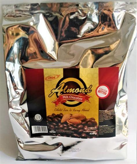 jual cokelat lagie almond  gram  lapak makasda