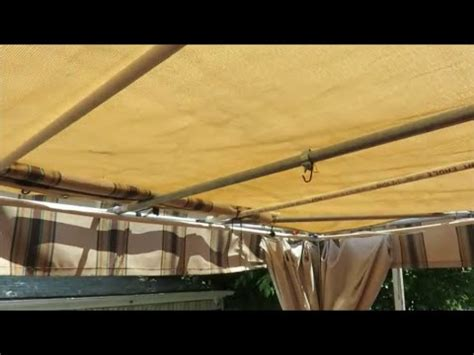 diy patio deck sunshade youtube