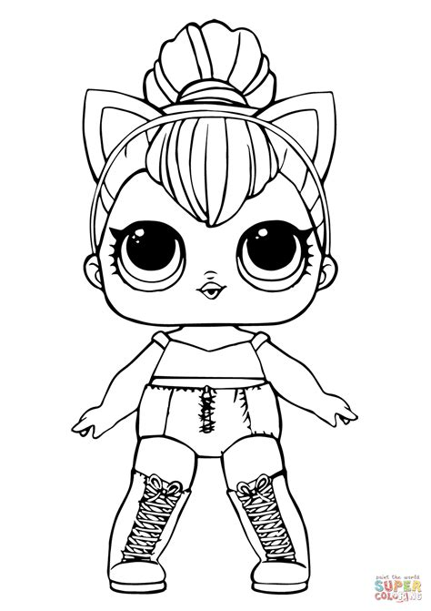 lol doll kitty queen coloring page  printable coloring pages