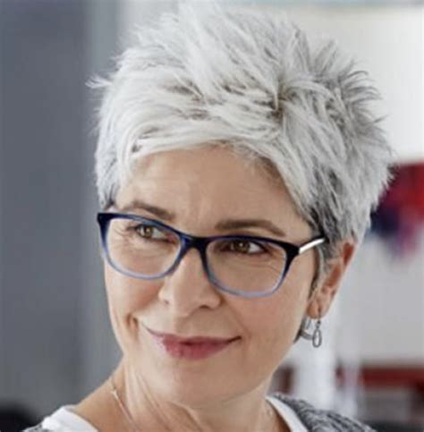 short pixie haircuts  older women