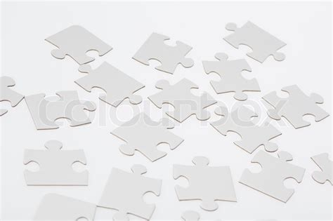 White Jigsaw Puzzle Pieces