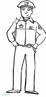 Coloring Police Officer Pages Drawing Community Helpers Policeman Clipart Hat Hats Security Guard Helper Printing Printable Firefighter Preschool Drawings Sketch sketch template