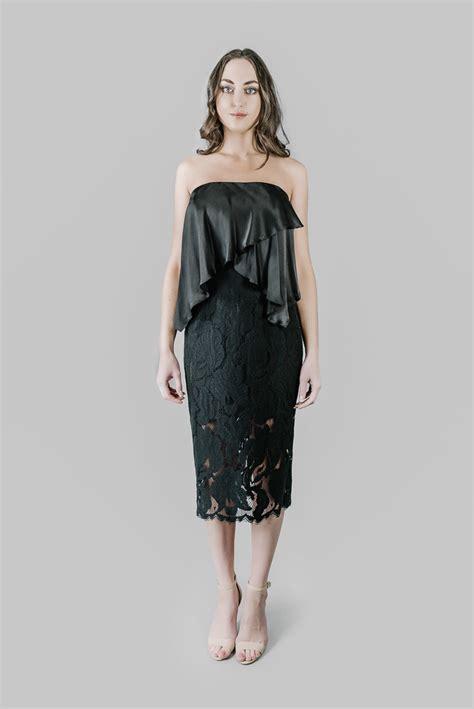 lover black arizona strapless dress size   volte