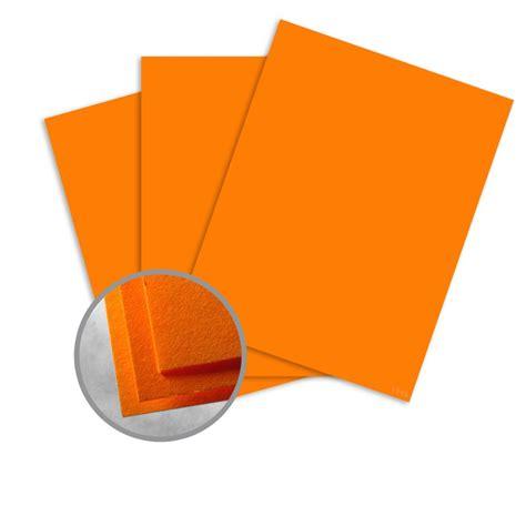 Cosmic Orange Card Stock  8 12 X 11 In 65 Lb Cover