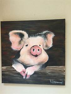 pig painting in acrylics pig pig painting farm