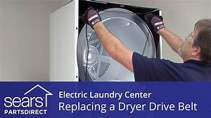 How to Replace an Electric Laundry Center Dryer Drive Belt ...