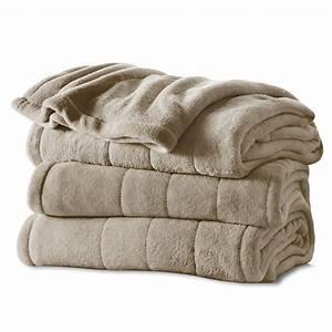 Sunbeam U00ae Channeled Microplush Heated Blanket
