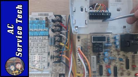 wiring  heat pump thermostat   air handler
